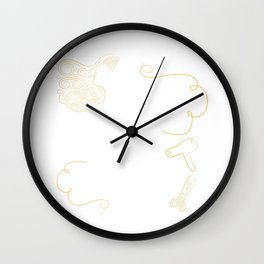 Love Is In The Hair Hairstylist Parlor Beautician Hairdresser Coiffeur Coiffurist Dying Gift Wall Clock