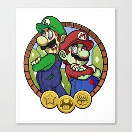 Zombies Mario & Luigi Canvas Print