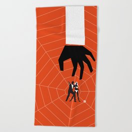 Orange Dr No Beach Towel