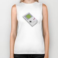 gameboy Biker Tanks featuring Gameboy by Mr Christer Design