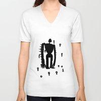miyazaki V-neck T-shirts featuring Miyazaki Forest by kamonkey