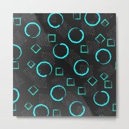 Circles & Squares Shapes Metal Print