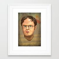 dwight Framed Art Prints featuring Dwight by GoodGame