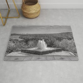 Down By The Waters Edge  - Black And White Rug