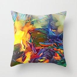 Groovy Fire Throw Pillow
