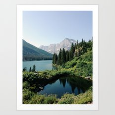 Lake Josephine, Glacier National Park Art Print