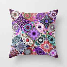 Moroccan bazaar   purple Throw Pillow