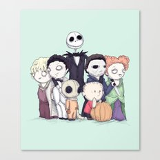 Halloweenies Canvas Print