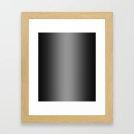 Black to Gray Vertical Bilinear Gradient Framed Art Print