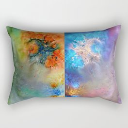 Abstract Rorschach Nebula Rectangular Pillow
