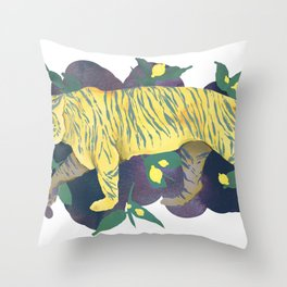 Lemon Tiger Throw Pillow