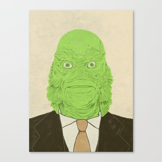Young Professional from the Black Lagoon Canvas Print