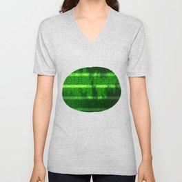 Metal Watermelon Rind Unisex V-Neck