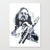eddie vedder Canvas Prints featuring Vedder. by Raisedbywolves