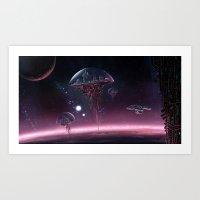 STAR TREK ANIMATED: The Arrival Art Print