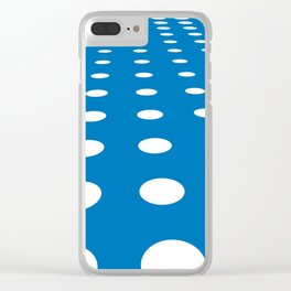 WHITE DOTS ON A BLUE BACKGROUND Abstract Art Clear iPhone Case