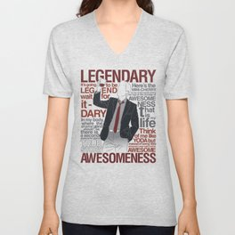 Barney Stinson - Legendary T-shirt of Awesomeness Unisex V-Neck