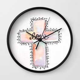 Christ is love Wall Clock