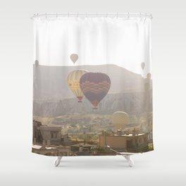 Foggy Morning Balloon Ride, Cappadocia Shower Curtain