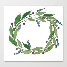 Simple wreath Canvas Print