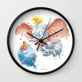 DUMBO AND TIMOTHY Wall Clock