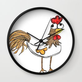 Silly Chicken Wall Clock