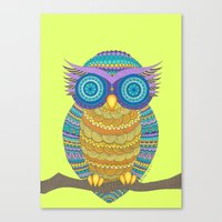 henna Canvas Prints featuring Henna Owl by haleyivers