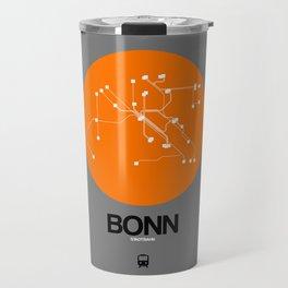 Bonn Orange Subway Map Travel Mug