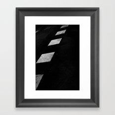Binary Road Framed Art Print