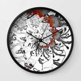 Earth Form Spiral Wall Clock