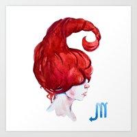 scorpio Art Prints featuring Scorpio by Aloke Design