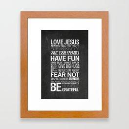 Our Family Rules Framed Art Print