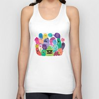 monsters inc Tank Tops featuring Monsters by Maria Jose Da Luz