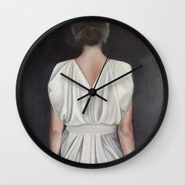 White Satin Wall Clock