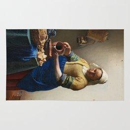 The Milkmaid by Johannes Vermeer Rug