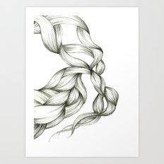 Whimsical Braids Art Print