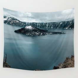 Mountain Lake View Wall Tapestry