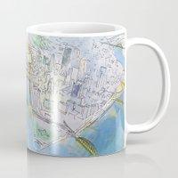 pittsburgh Mugs featuring Pittsburgh by Jen Joyce