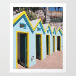 Bathhouses, Capri Art Print
