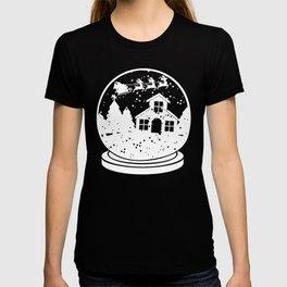 Merry Christmas Santa Snow Globe T-shirt