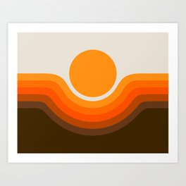 Golden Canyon Art Print