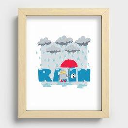 Rain! Recessed Framed Print