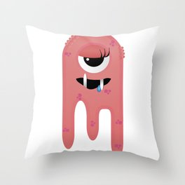 Monster Girl Throw Pillow