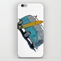 vw bus iPhone & iPod Skins featuring VW Bus by AshyGough