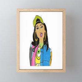 Cardi B Framed Mini Art Print