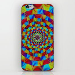 ZOOM #1 Vibrant Psychedelic Optical Illusion iPhone Skin