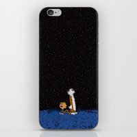 hobbes iPhone & iPod Skins featuring Calvin & Hobbes by rarcomeus