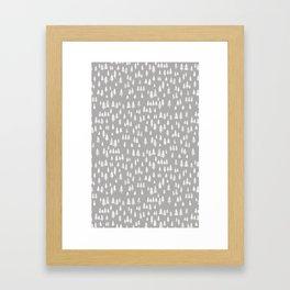 evergreen forest Framed Art Print