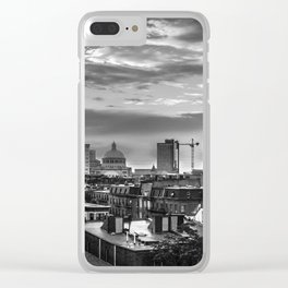 Black and White Boston - Massachusetts Clear iPhone Case