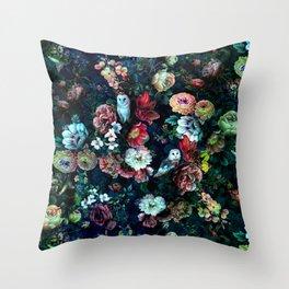 Night Garden Owls Throw Pillow